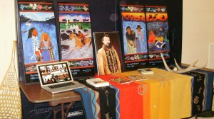 Louis Riel Day display